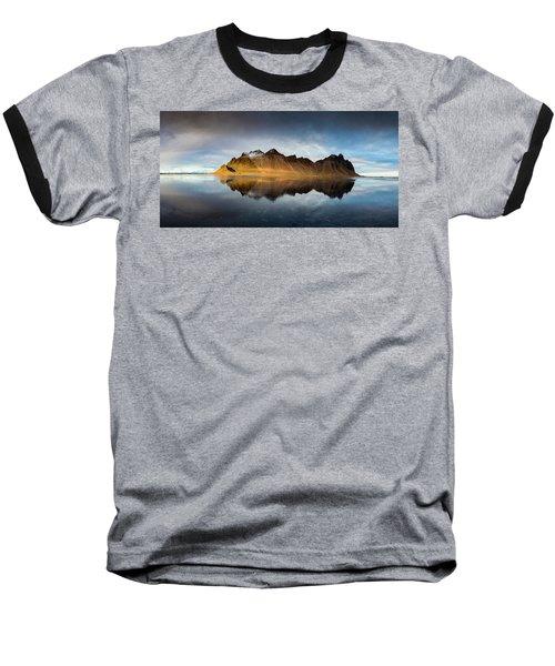 Vestrahorn Panao Baseball T-Shirt by Allen Biedrzycki