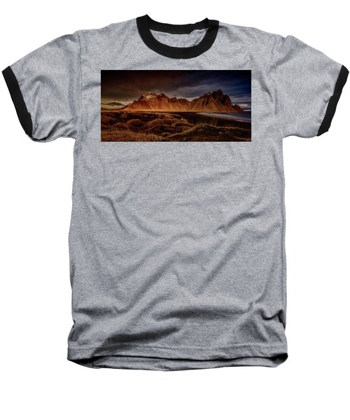 Baseball T-Shirt featuring the photograph Vestrahon With Sunglow by Allen Biedrzycki