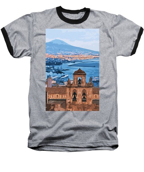 Vesuvio, Panorama From Naples Baseball T-Shirt