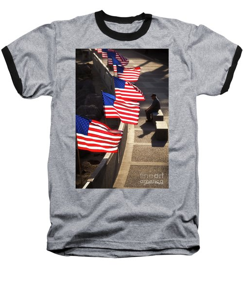 Veteran With Our Nations Flags Baseball T-Shirt
