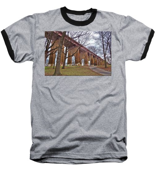 Viaduct Baseball T-Shirt by Mikki Cucuzzo