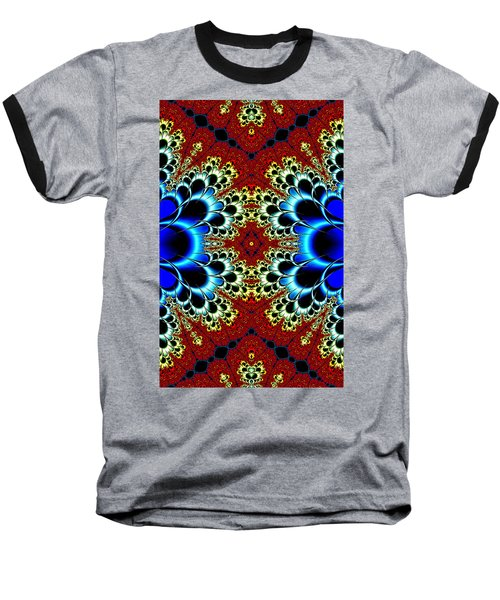 Vibrancy Fractal Cell Phone Case Baseball T-Shirt by Lea Wiggins