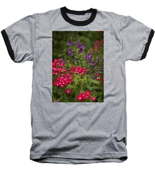 Vibrant Blooms Baseball T-Shirt