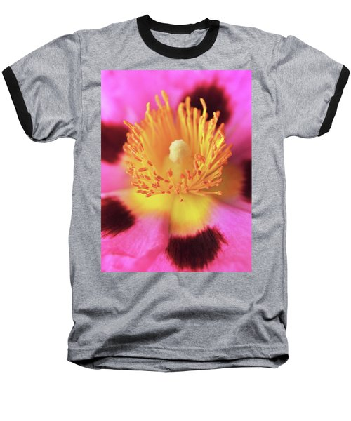Baseball T-Shirt featuring the photograph Vibrant Cistus Heart. by Terence Davis