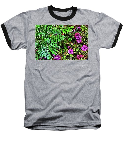 Baseball T-Shirt featuring the digital art Vibrant Garden by Terry Cork