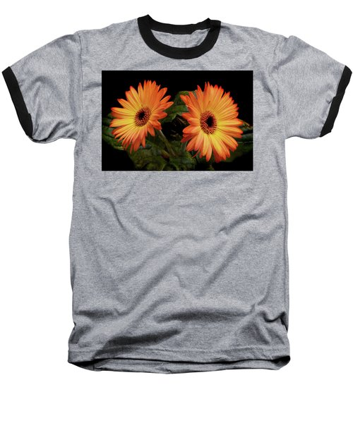 Baseball T-Shirt featuring the photograph Vibrant Gerbera Daisies by Terence Davis