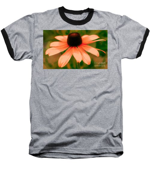 Vibrant Orange Coneflower Baseball T-Shirt by Judy Palkimas