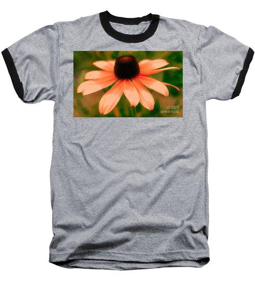 Vibrant Orange Coneflower Baseball T-Shirt