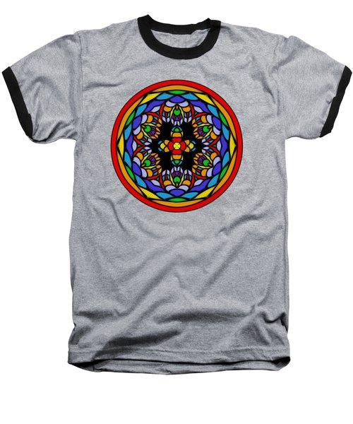 Vibrant Pattern Orb By Kaye Menner Baseball T-Shirt