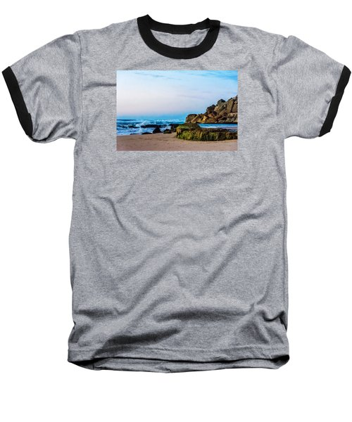 Baseball T-Shirt featuring the photograph Vibrant Seascape At Twilight by Marion McCristall
