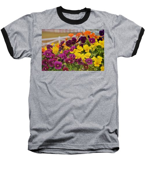 Vibrant Violas Baseball T-Shirt by JAMART Photography
