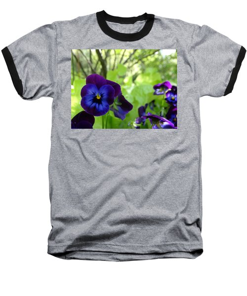 Vibrant Violets In Purple Baseball T-Shirt by Rebecca Overton