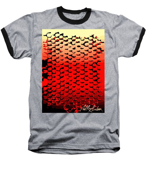 Vibrational Bricks Baseball T-Shirt