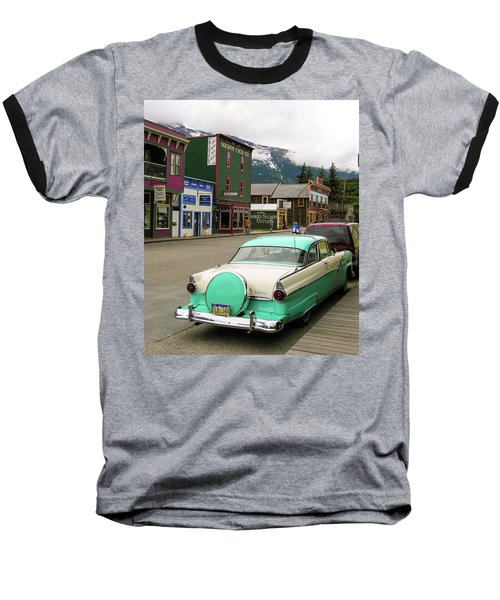 Baseball T-Shirt featuring the photograph Vicky In Skagway by Jim Mathis