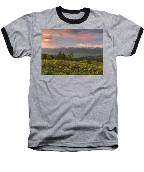 Victor Idaho Sunset Baseball T-Shirt
