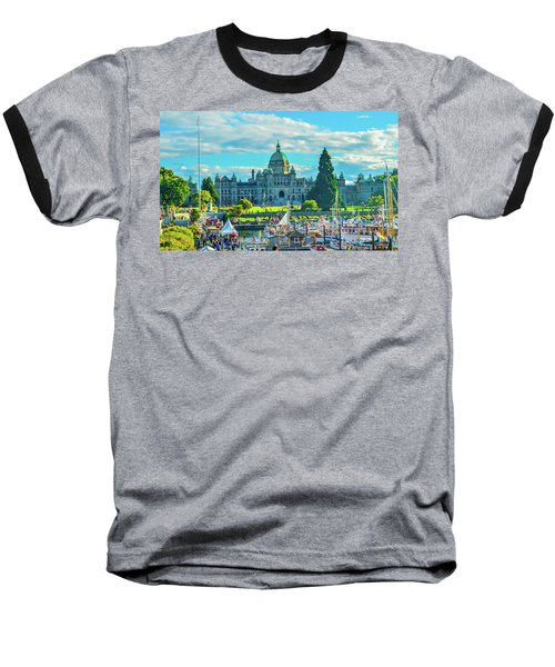 Victoria Bc Parliament Harbor Baseball T-Shirt
