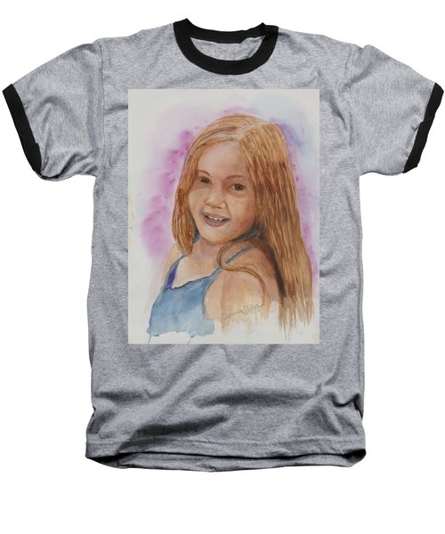 Baseball T-Shirt featuring the painting Victoria by Donna Walsh