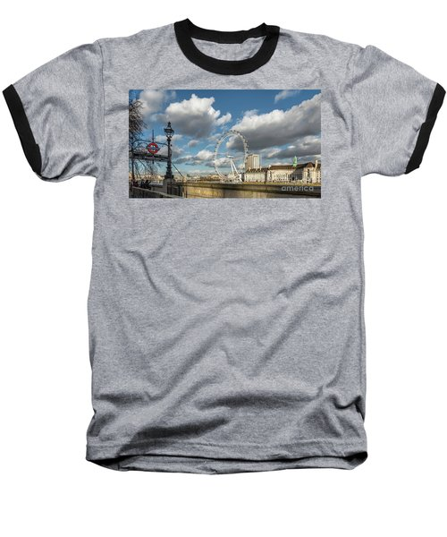 Victoria Embankment Baseball T-Shirt by Adrian Evans