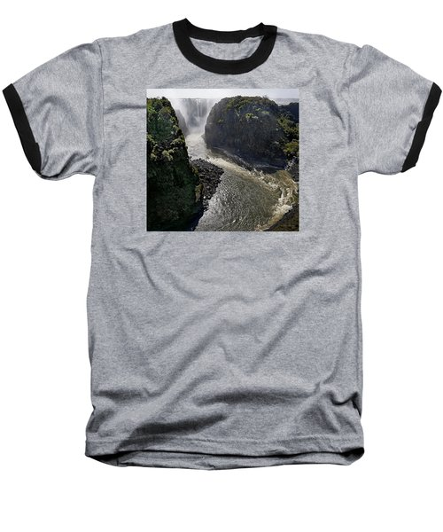Victoria Falls Baseball T-Shirt by Joe Bonita
