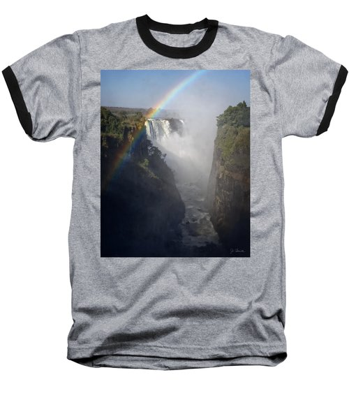 Victoria Falls No. 3 Baseball T-Shirt by Joe Bonita