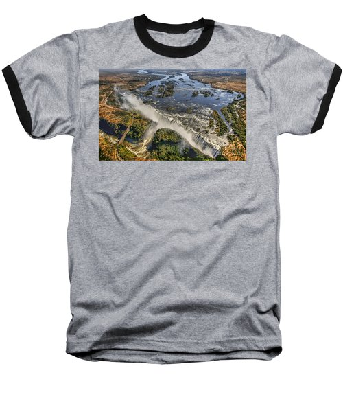 Baseball T-Shirt featuring the photograph Victoria Falls, The Smoke That Thunders by Myrna Bradshaw