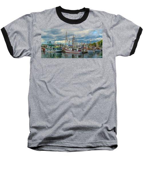 Victoria Harbor Boats Baseball T-Shirt