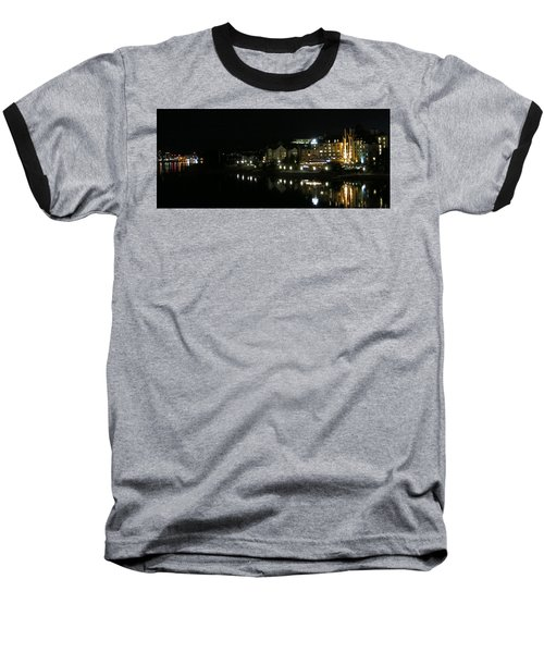 Victoria Harbor Night View Baseball T-Shirt by Betty Buller Whitehead