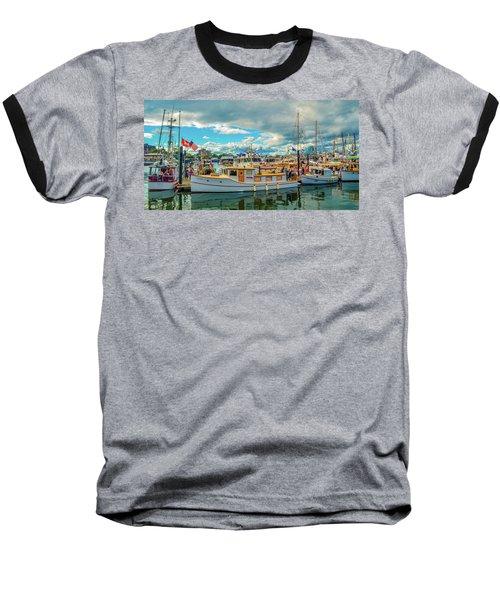Victoria Harbor Old Boats Baseball T-Shirt