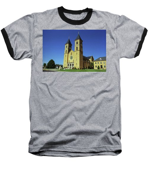 Baseball T-Shirt featuring the photograph Victoria, Kansas - Cathedral Of The Plains 6 by Frank Romeo