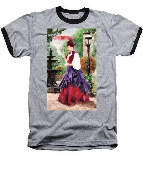 Victorian Lady Baseball T-Shirt
