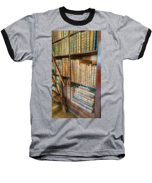 Victorian Library Baseball T-Shirt by Isabella F Abbie Shores FRSA