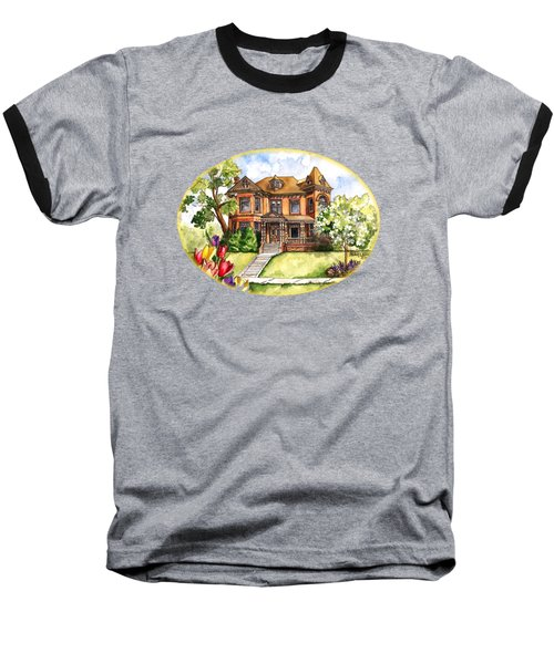 Victorian Mansion In The Spring Baseball T-Shirt