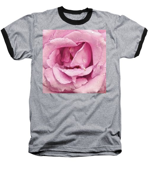 Victorian Pink Rose Bloom Baseball T-Shirt by Scott Cameron