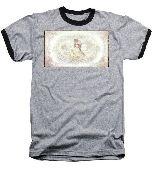 Baseball T-Shirt featuring the mixed media Victorian Princess Altiana by Shawn Dall