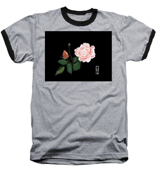 Victorian Rose Baseball T-Shirt