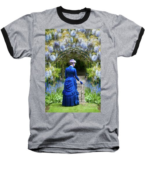 Victorian Woman With Wisteria Baseball T-Shirt