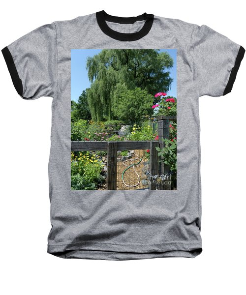 Victory Garden Lot And Willow Tree, Boston, Massachusetts  -30958 Baseball T-Shirt