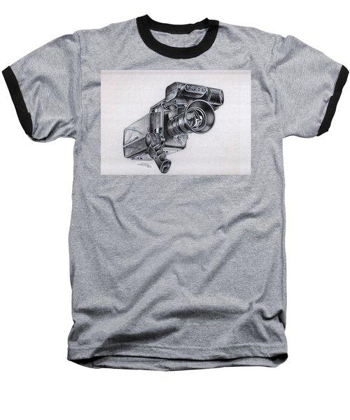 Video Camera, Vintage Baseball T-Shirt