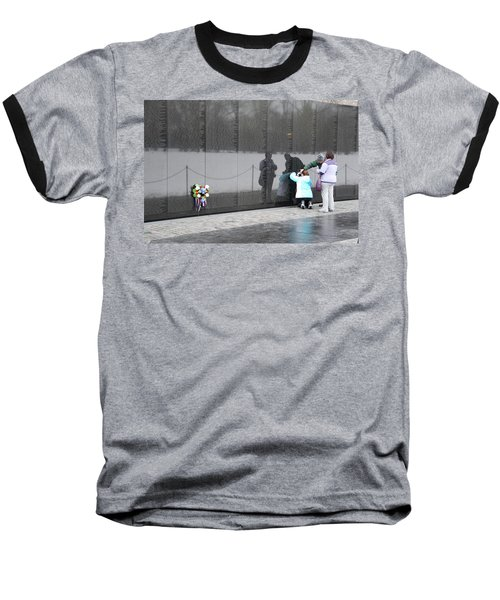 Vietnam Wall Family Baseball T-Shirt
