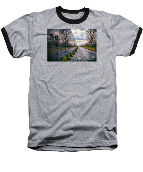 Vietnam War Memorial, Washington, Dc, Usa Baseball T-Shirt by Sam Antonio Photography