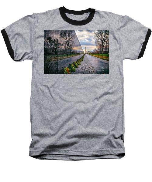 Vietnam War Memorial, Washington, Dc, Usa Baseball T-Shirt