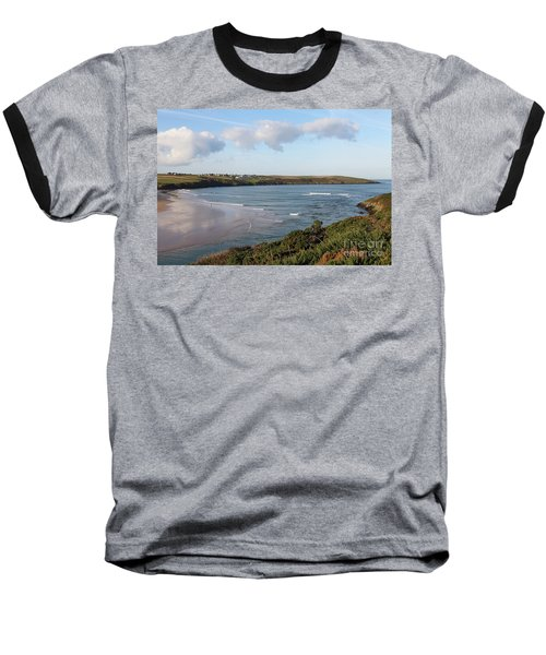 Baseball T-Shirt featuring the photograph View Across The Gannel Estuary by Nicholas Burningham
