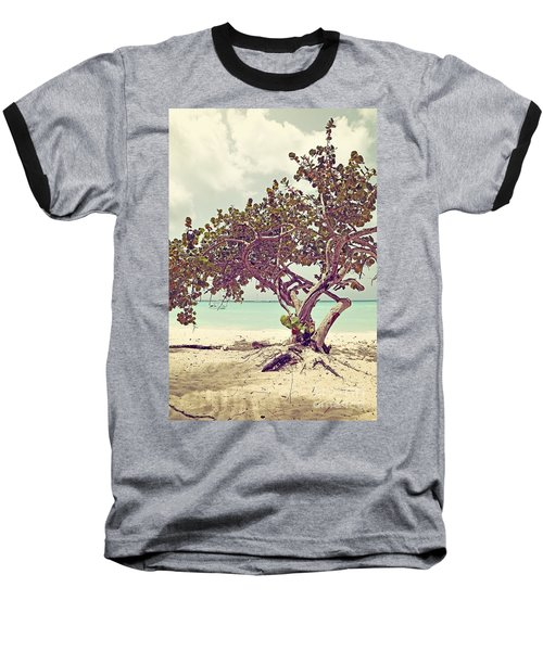 View At The Ocean With Boats In The Water Baseball T-Shirt