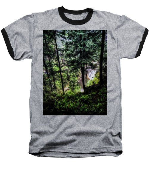 Baseball T-Shirt featuring the photograph View Downhill by Joseph Hollingsworth