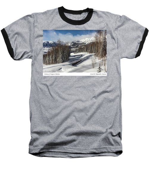 View From A Mountain Above Telluride In Colorado Baseball T-Shirt