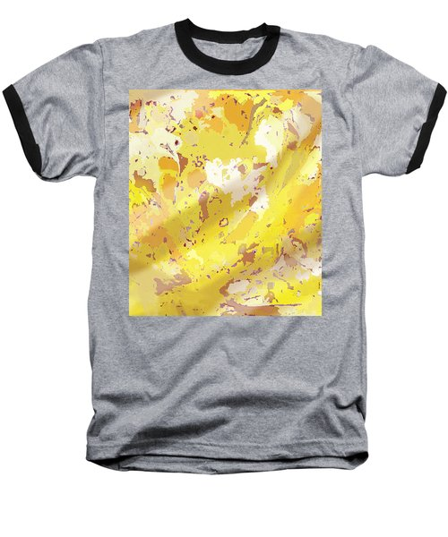 View From Above In Yellow Baseball T-Shirt