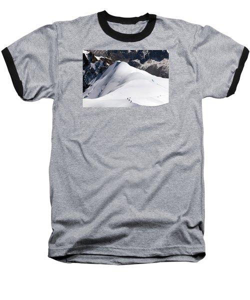View From Aguille Du Midi Baseball T-Shirt by Aivar Mikko