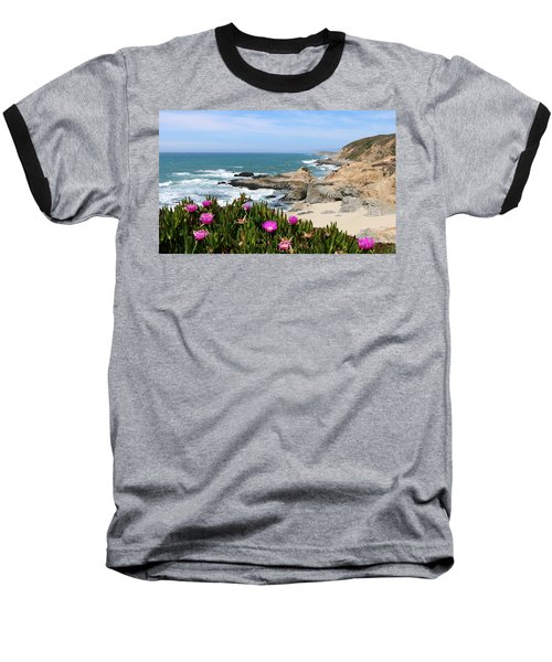 View From Bodega Head In Bodega Bay Ca - 3 Baseball T-Shirt
