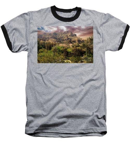 View From Boyce Thompson Baseball T-Shirt by Anne Rodkin