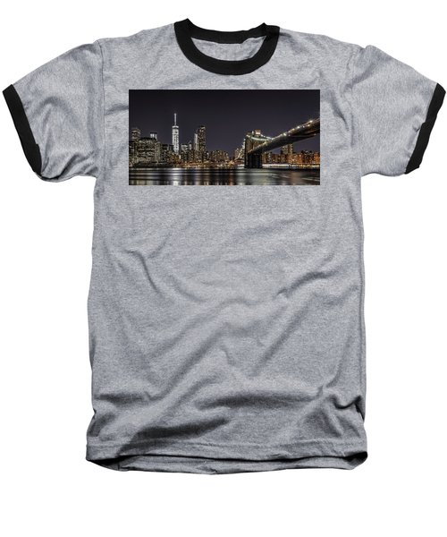 View From Brooklyn Bridge Park Baseball T-Shirt